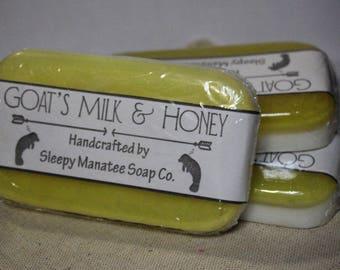 SET OF 3 BARS - Handmade Goat's Milk & Honey Soap