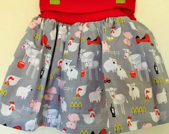 Cute little girls handmade skirt - fully lined - age 5 years