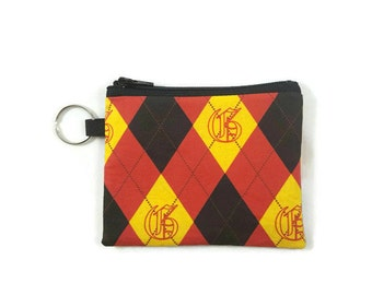 Harry Potter Hogwarts Students Coin Purse, Gryffindor Mini Zipper Pouch, Coin Pouch, Earbud Holder, change Purse, coin pouch keychain