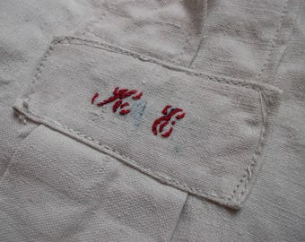 Gorgeous vintage Nightgown sleeved long monogrammed