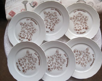 Tirschenreuth French Fromage (Cheese) Plates Set of 6 Vintage & Fromage   Etsy