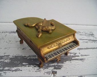 Piano Music Box ~ 1940s Swiss Made Grand Piano ~ Plays Rose Marie