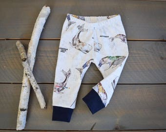 Narwhal Baby Leggings, Organic Infant Whale Pants, Toddler Leggings Whales, Newborn Whale Pants, Take Home Outfit