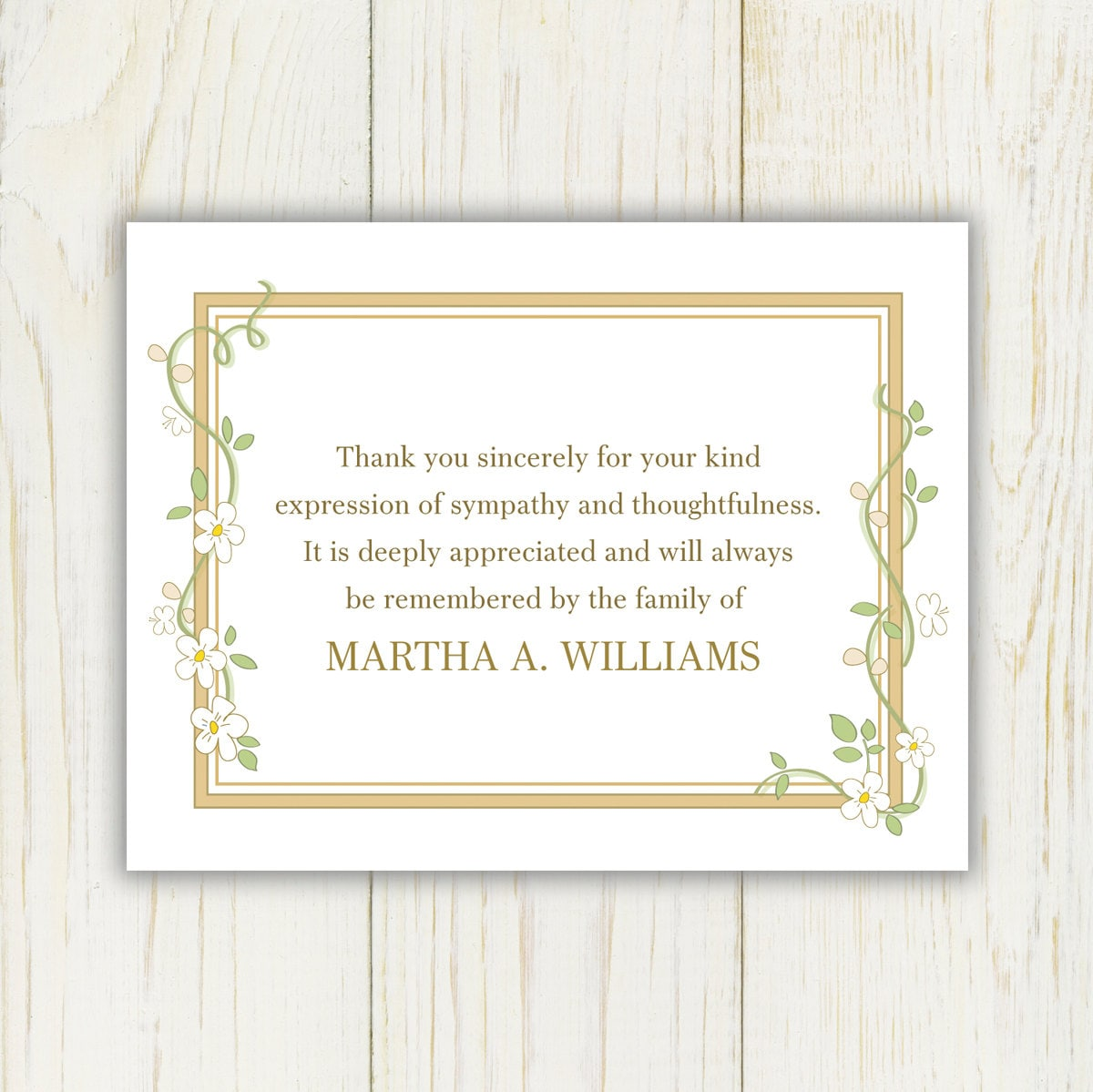 Flowers funeral thank you card printable digital file zoom izmirmasajfo Image collections