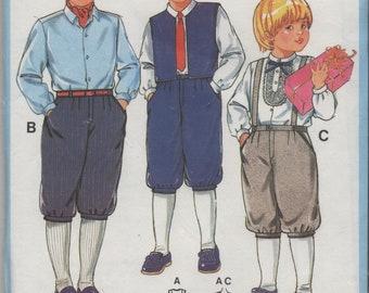 Boys Vest & Knee Pants, Knickerbockers, Optional Suspenders, Child's Size 3 4 6 8 10 12/14, Uncut Burda Sewing Pattern