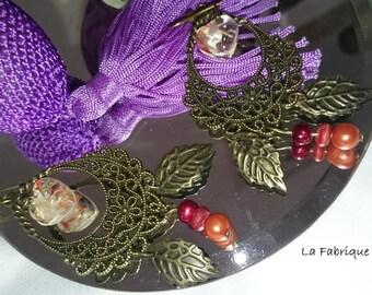 Original gift earrings my autumn leaves