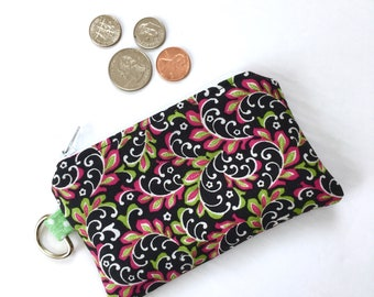Coin Purse - Earbud Pouch - Zipper Wallet - Zipper Purse - Credit Card Holder
