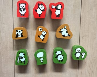 Cute panda stamp by Kodomonokao