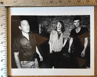 Unsane, outside CBGB's, NYC circa: 1990, silver gelatin print from negative - KRK Dominguez