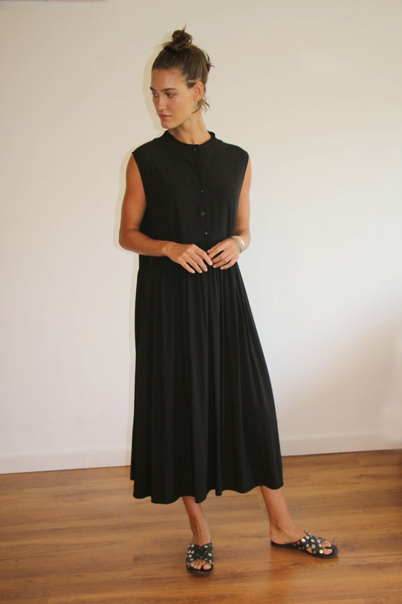 Dress Size End Black Dress Black Dress Dress Dress Plus High Minimalist Summer Dress Long Sleeveless Maxi Unique Dress Dress Party UFHgwqxa