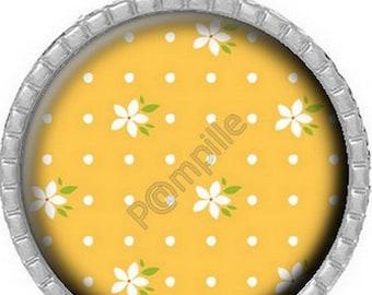 Cabochon pendant - Orange blossoms (613)