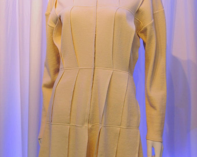 Featured listing image: Jean Paul GAULTIER pour Equator Cream Layered Knit Sweater Dress Jacket Coat