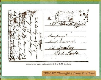 Destash - Unity - Ippity Stamps - Thoughts from the Past