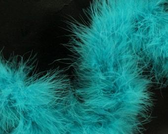 "Marabou Boa - Light Turquoise - 18"""