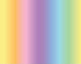 Pastel Rainbow From Northcott Studio's Unicorn Magic Collection