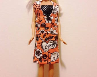 "Handmade 11.5"" Doll, Barbie Clothes- Jumper Dress & Top fits Barbie Dolls"