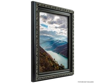 black antique picture frames. Craig Frames, 20x30 Inch Antique Black Picture Frame, Ancien Ornate (101872030) Frames T