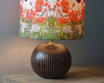Red Admirals And Poppies Lampshade   Butterfly Lampshade, Flower Lampshade, Lamp  Shade, Floral