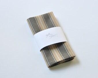 Striped men's pocket handkerchief. Men's pocket square. Pocket kerchief. Wedding pocket square. Beige pocket handkerchief. Back to school