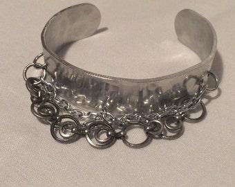 Chains on Cuff Bracelet