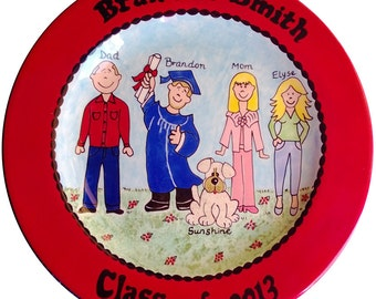 Personalized Pottery Plate ceramic graduation gift