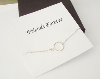 Eternity Infinity Sterling Silver Necklace ~~Personalized Jewelry Gift Card for Friend, Best Friend, Sister, Sister in Law, Bridal Party