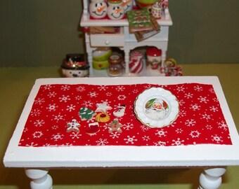 Dollhouse Miniature Christmas Cookies and Plate Set