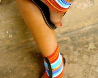 Handmade Beaded Sandals. Maasai African Sandals Handmade Thongs. Flip Flops. Leather Gladiators. Leather shoes. Holiday  . Beach Thongs.