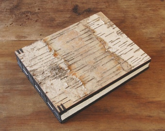rustic wedding guest book  birch bark cabin vacation home guest book - black natural unique wedding anniversary gift memorial ready to ship