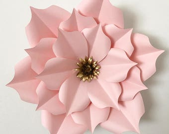 Flat paper flowers etsy svg petal 5 paper flower template flat center for cricut and silhouette machines for diy giant paper flowers for wedding event backdrop mightylinksfo