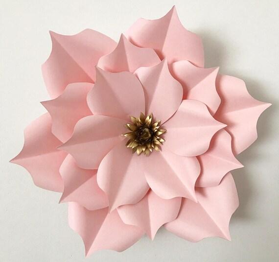 svg petal 5 paper flower template digital version with base