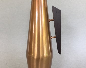 Vintage Danish Modern Copper with teakwood handle  from the1960s.