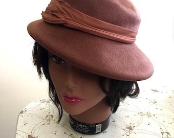 Vintage 1940s Henry Pollak Co - Selkirk - Felted Wool Hat - Glenover