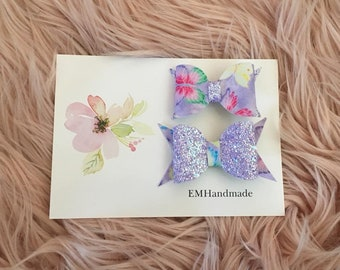 Glitter butterfly clip in bows