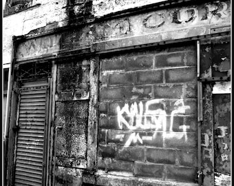 Photography, urban decay, glasgow, fine art Giclee print.