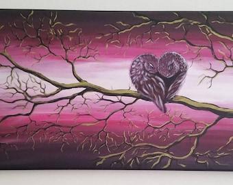 Lovebirds original painting