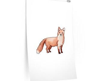 Standing Fox Matte Poster