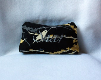 Custom Zipper Pouch - Joel Dewberry Aviary with Embroidery