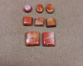 45% OFF Orange Spiny Oyster Shell Cabochon Set/ backed/ seconds/ square/circle/rectangle