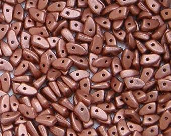 Prong Bead, Matte Metallic Copper, 5 grams, 3 x 6 mm, Czech Bead, (K0177)
