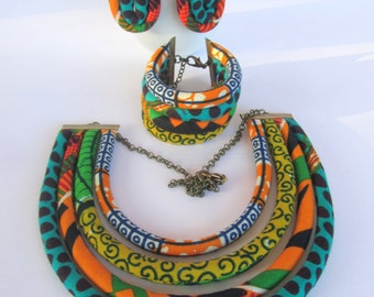 African jewelry set / ethnic jewelry set / African wedding jewelry set