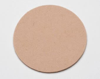 "Round Wool Felt Coasters, Wool Coaster Crafts, 4"" Coasters, 3 mm Coasters, Set of 8 Coasters"