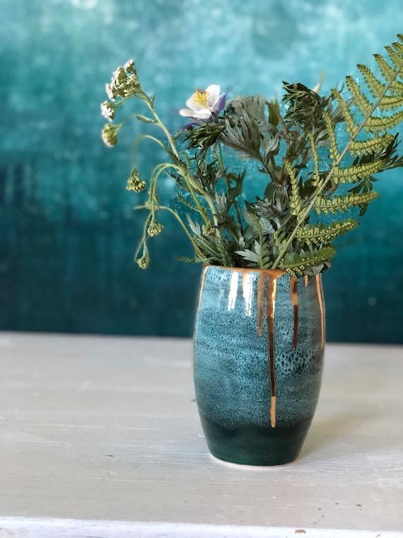 Handmade stoneware galaxy vase