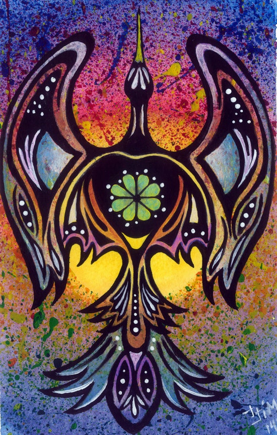 Peyote Bird Authentic Native American Art /Acrylic Art Print