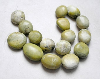 Yellow Green Turquoise Beads Large Graduated For Jewelry Making and Beaded Jewelry Metaphysical healing Stone