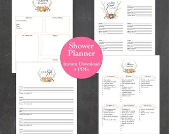 Baby Shower Checklist Pdf ~ Baby shower planner printable instant download a4 letter