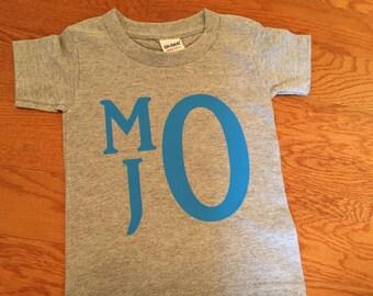 Boys Monogram T-Shirt. Toddler Monogram Shirt,  Personalized Monogram Shirt. Boys Monogram Shirt