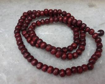 rose wooden mala bead mala 108 bead necklace