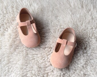 Nude Pink Baby Shoes, Toddler Girl Shoes, Baby Shoes Girl, Leather Baby Shoes, Flower Girl Shoes, Birthday Outfit, Gift for Girls