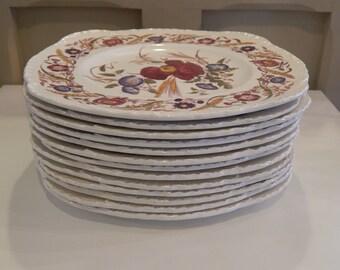 "Wedgwood Cornflower 9"" square luncheon plate"